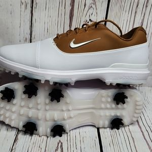 Nike Golf Air Zoom Victory Pro White /Brown Shoes